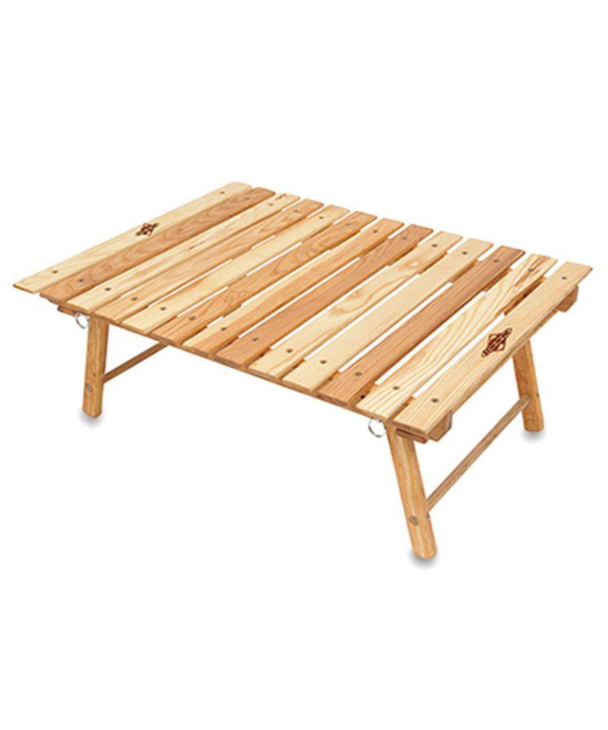 外遊び生活向上キャンプブログ キャンプで使えるブルーリッジチェアワークス カロリナスナックテーブル画像