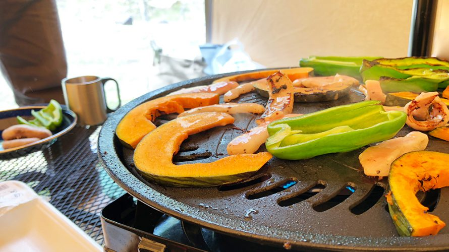 外遊び生活向上キャンプブログ イワタニ タフ丸 焼肉プレートの画像006