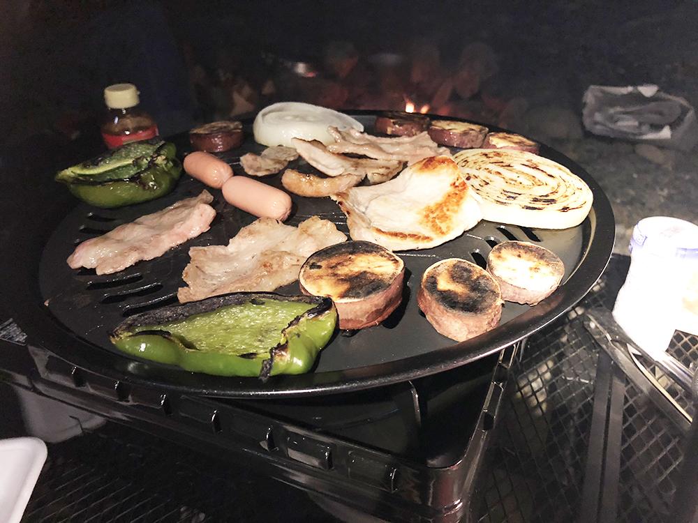 外遊び生活向上キャンプブログ イワタニ タフ丸 焼肉プレートの画像003