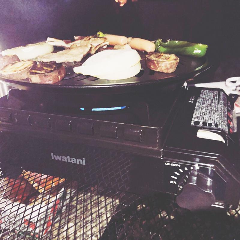 外遊び生活向上キャンプブログ イワタニ タフ丸 焼肉プレートの画像005