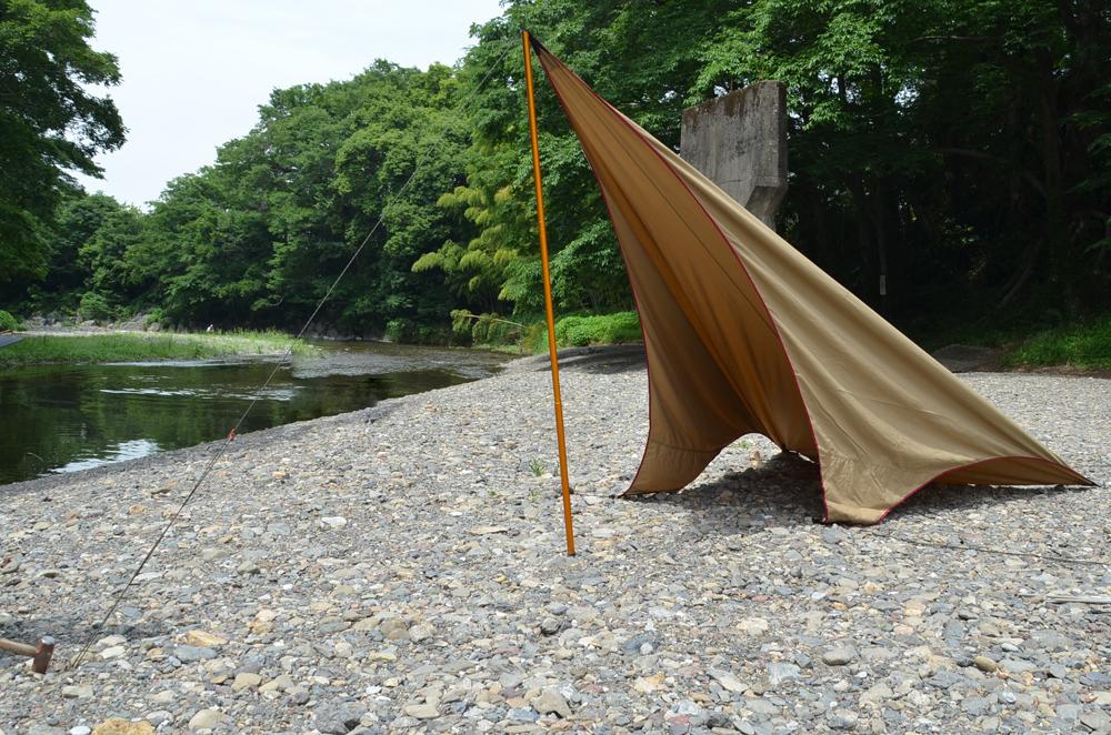 外遊び生活向上キャンプブログ テンマクデザインムササビウィング設営の画像