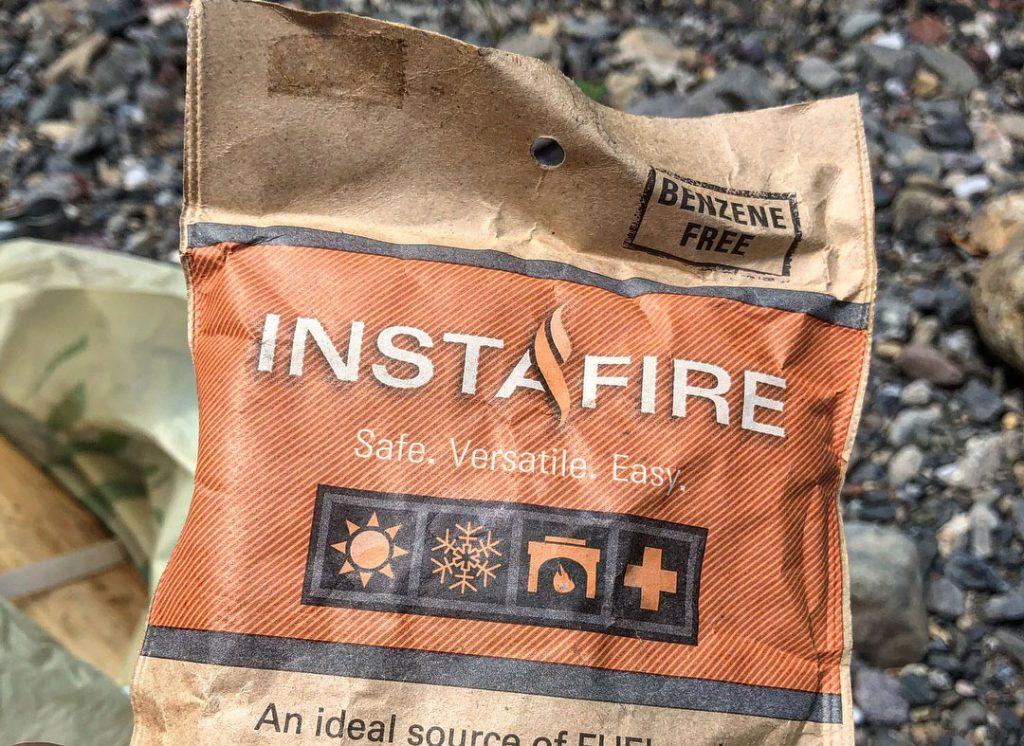 外遊び生活向上キャンプブログ 粒状固形着火剤インスタファイヤーの画像