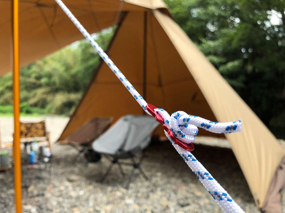 外遊び生活向上キャンプブログ どこにでも掛けられる自在金具の画像