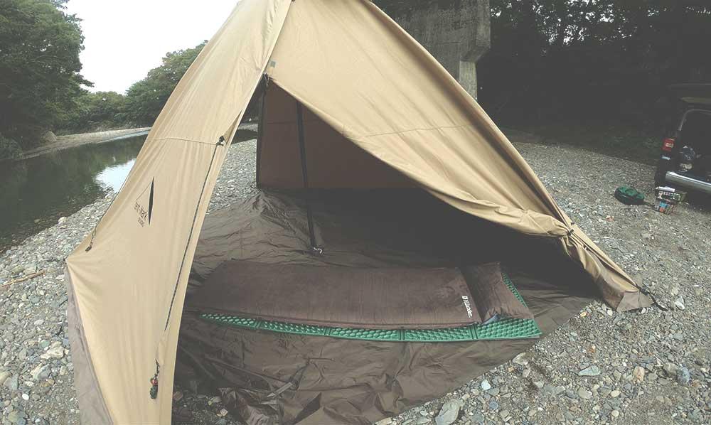 外遊び生活向上キャンプブログ 休サーカスTC ハイランダーインフレーターマット9cm画像02