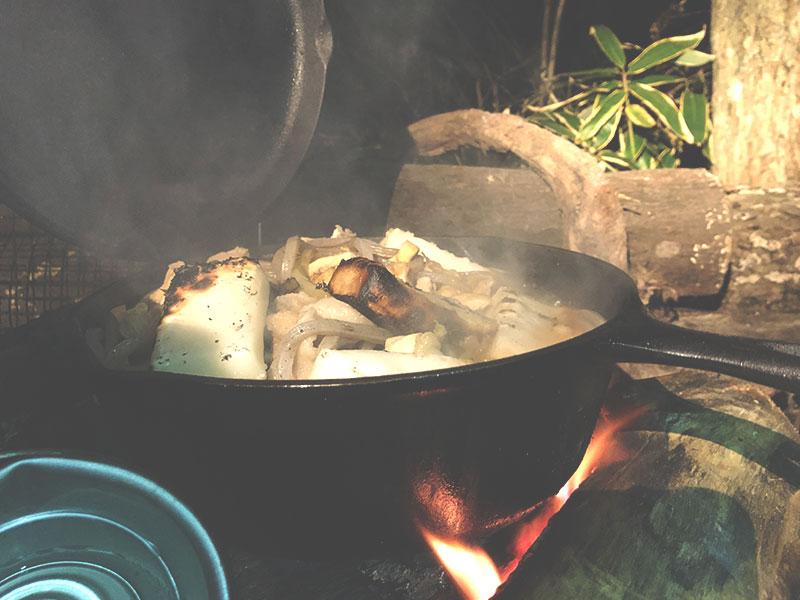 外遊び生活向上キャンプブログ 冬キャンプ 鍋料理 画像