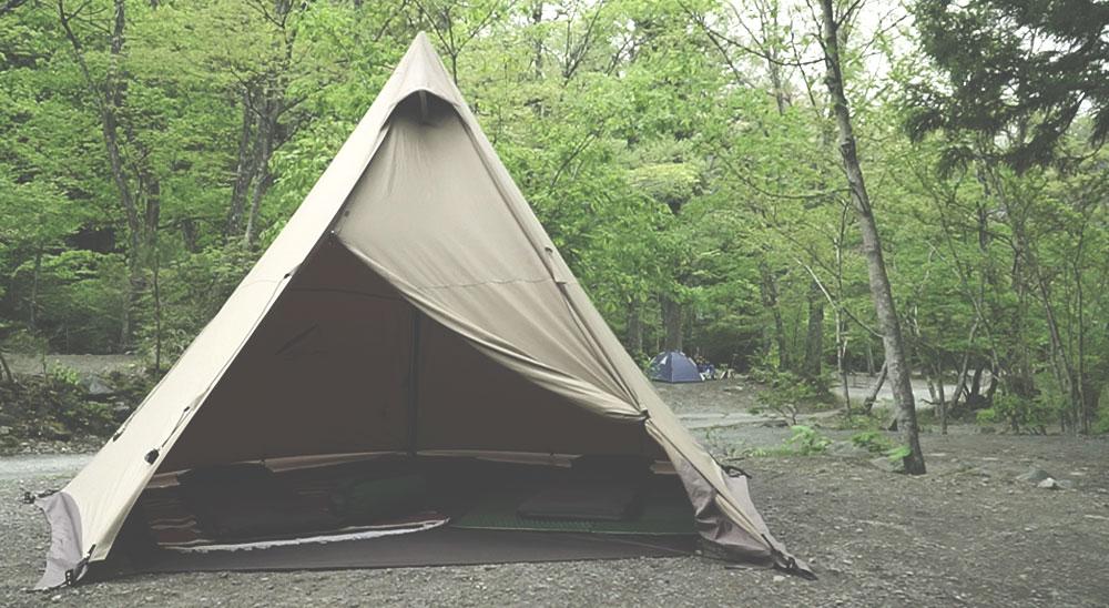 初道志の森キャンプ場 サーカスTC設営 グランドシート