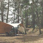 焚火タープ コネクトヘキサ 実際のレイアウトとサーカスTC 松原湖オートキャンプ場での画像